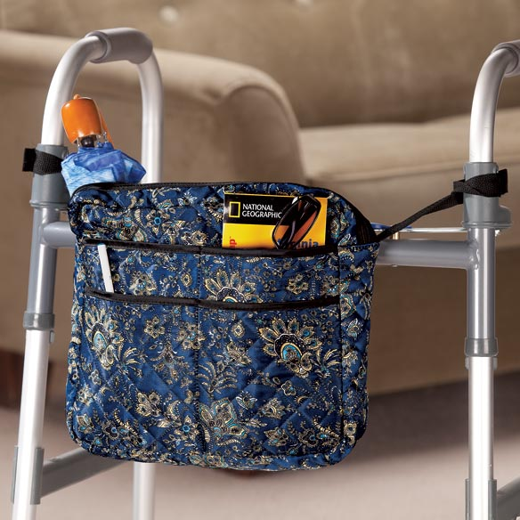Navy Print Walker/Wheelchair Bag - View 1