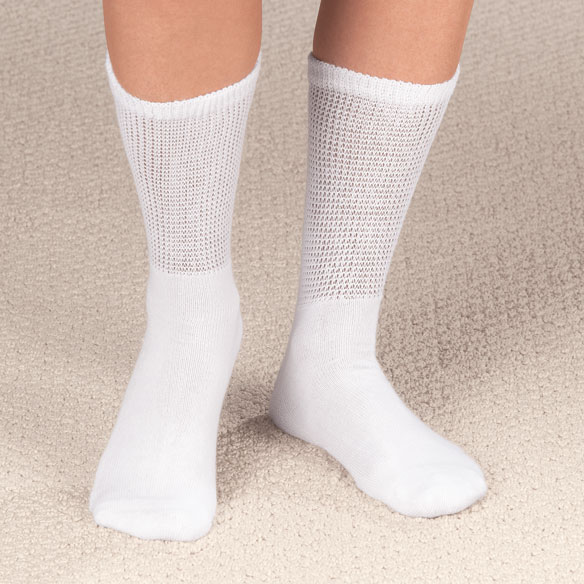 Diabetic Crew Socks - 2 Pairs - View 1
