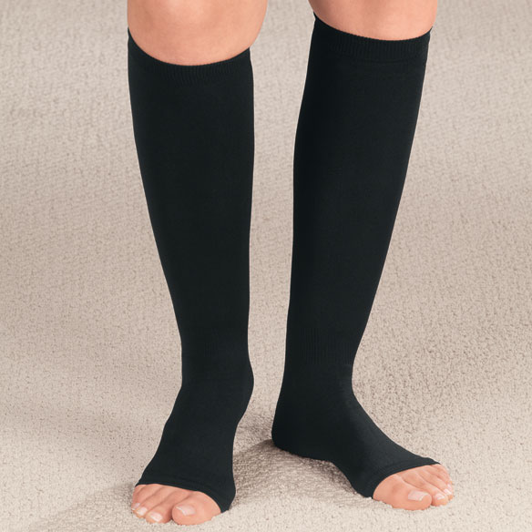 Compression Open Toe Knee Highs, 20-30 mmHg - View 2