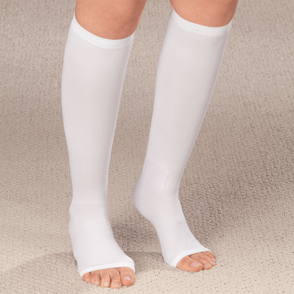 Compression Open Toe Knee Highs, 20-30 mmHg - View 3