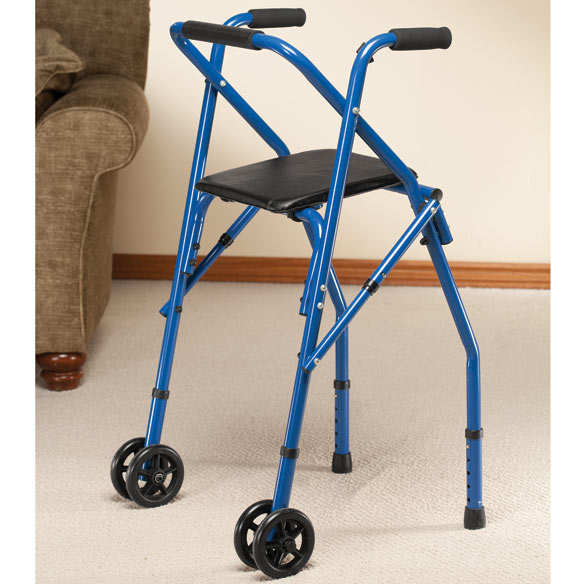 Walker With Seat Rolling Walker With Seat Easy Comforts