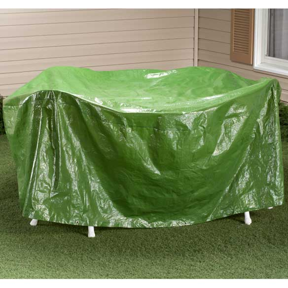 "Rectangular Patio Table Cover - 30""H x 84"" Dia"