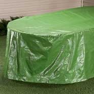 "Outdoor - Oval Patio Table Cover -  108""L x 30""H x 84""W"