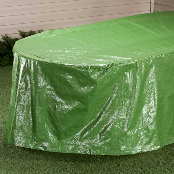 "Oval Patio Table Cover -  108""L x 30""H x 84""W"