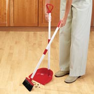 Home Necessities - Long Handled Dust Pan With Broom