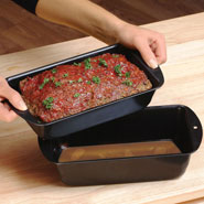 Cooking Alone - 2 Pc. Lowfat Nonstick Meatloaf Pan