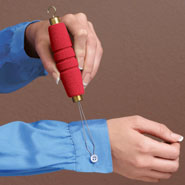 New - Button Hook Zipper Pull