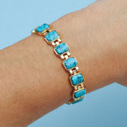 Apparel Accessories - Magnetic Turquoise Bracelet