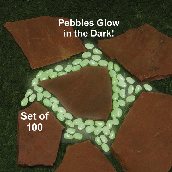 Glow In The Dark Stones - Set Of 100