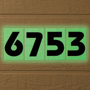 Outdoor - Glow In The Dark House Numbers