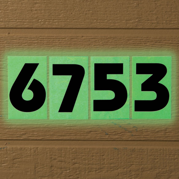 Glow In The Dark House Number