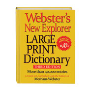Hobbies & Books - Webster's® Large Print Dictionary