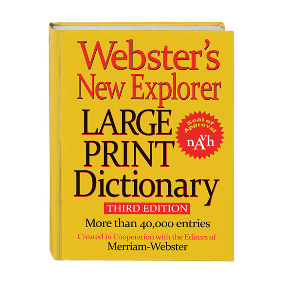 Webster's® Large Print Dictionary