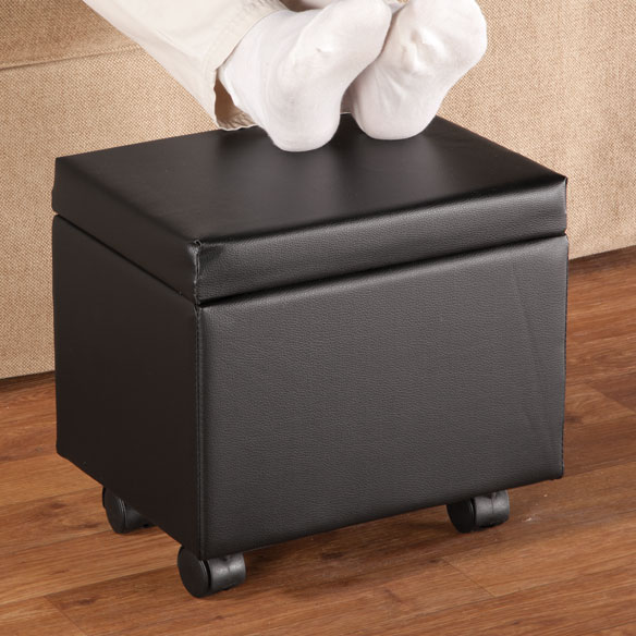 Flip Top Storage Ottoman - View 1