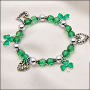 Apparel Accessories - Shamrock / 4 Leaf Clover Stretch Bracelet