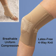 Ankle and Knee Supports with Silicone Inserts