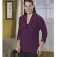 Easy Comforts Style™ Shawl Collar Tunic Magenta/Black