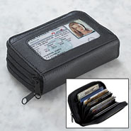 Apparel Accessories - Black Accordion Wallet