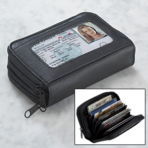 Black Accordion Wallet
