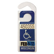 Values under $4.99 - Handicap Placard Hanger