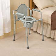 Bathroom Safety - Bariatric Folding Commode
