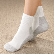 Women's Diabetic Sport Sock Quarter High 2 Pairs