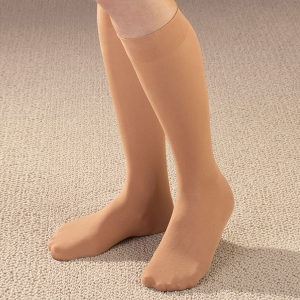 Women's Microfiber Knee High Support Socks