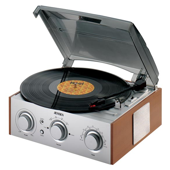 Jensen® Turntable With Radio