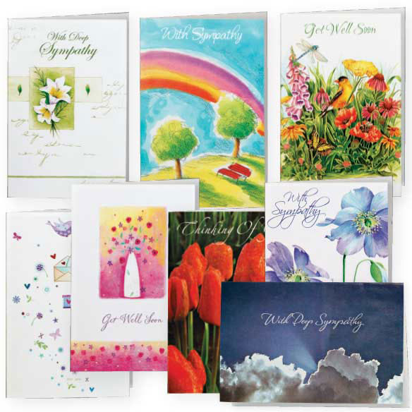 Encouragement And Sympathy Cards - Set Of 24