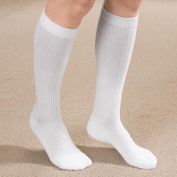 Ribbed Cotton Compression Socks