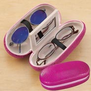 Pink Double Eyeglass Case