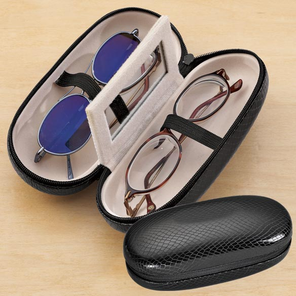 Black Double Eyeglass Case