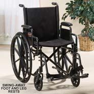 Wheelchair With Swing Away Leg Rests