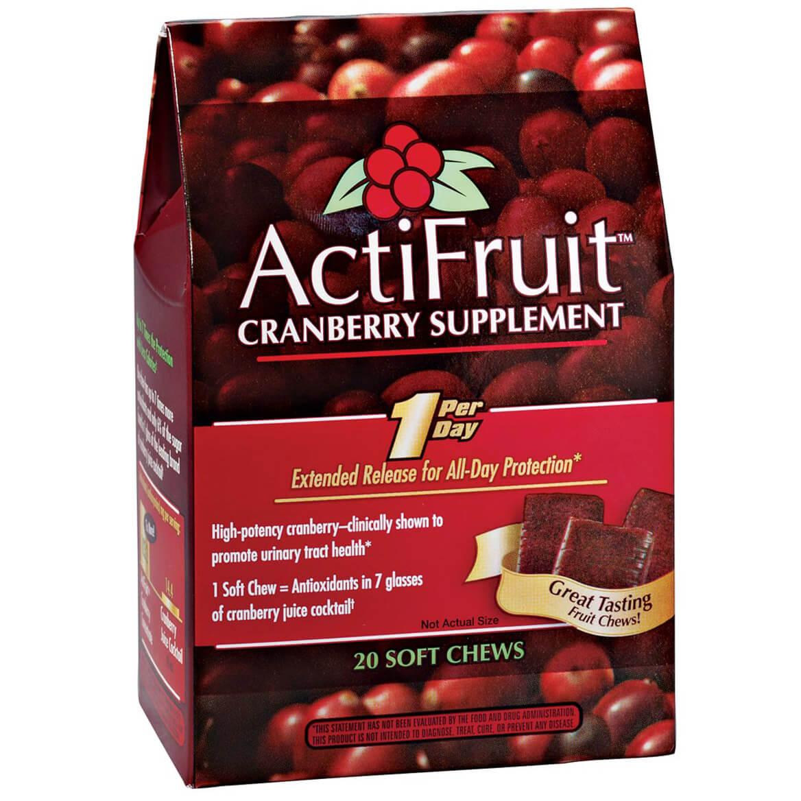 ActiFruit™ Cranberry Supplement Chews-340905