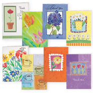 Hobbies & Books - Thank You And Blank Note Cards - 24 Pack