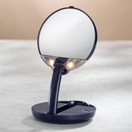 Beauty Basics - Lighted Travel Makeup Mirror