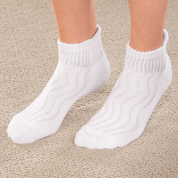 Wave-in Mesh Diabetic Ankle Socks