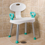 Bathroom Safety - Bath And Shower Seat With Arms