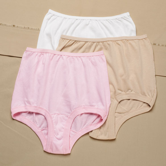 Colored Banded Leg Cotton Panty, 3 pack