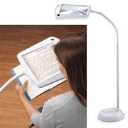 Vision Loss - Lighted Full Page Magnifier Lamp