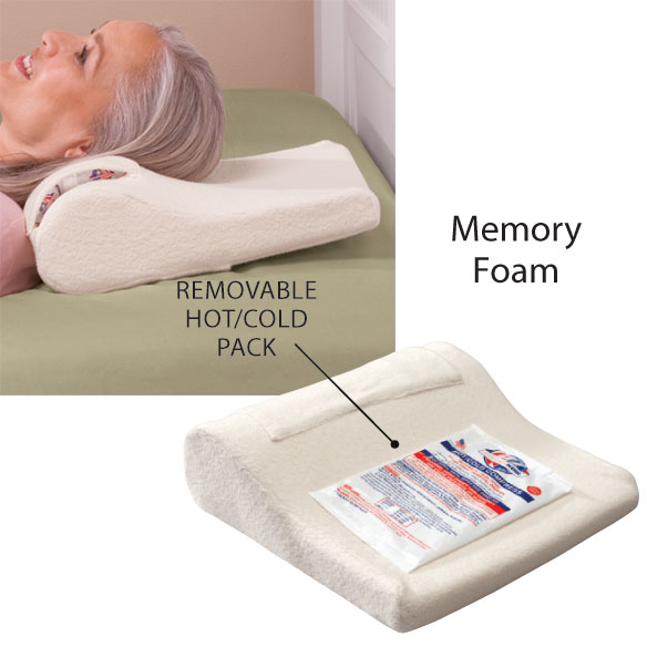Therapeutic Tension Pillow with Hot/Cold Pack