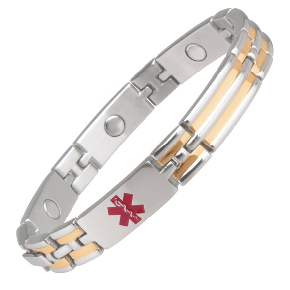 Unisex Magnetic Diabetic Medical ID Bracelet