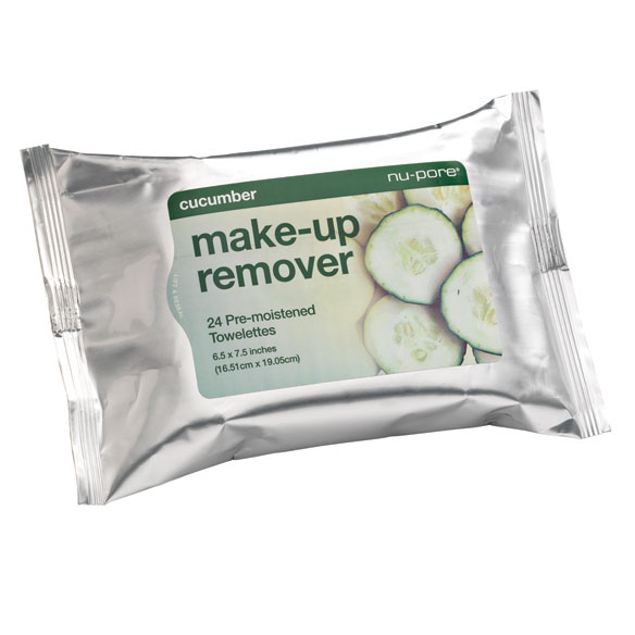 Cucumber Make-up Remover Towelettes, 24 count