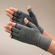 Braces & Supports - Light Compression Gloves With Grippers