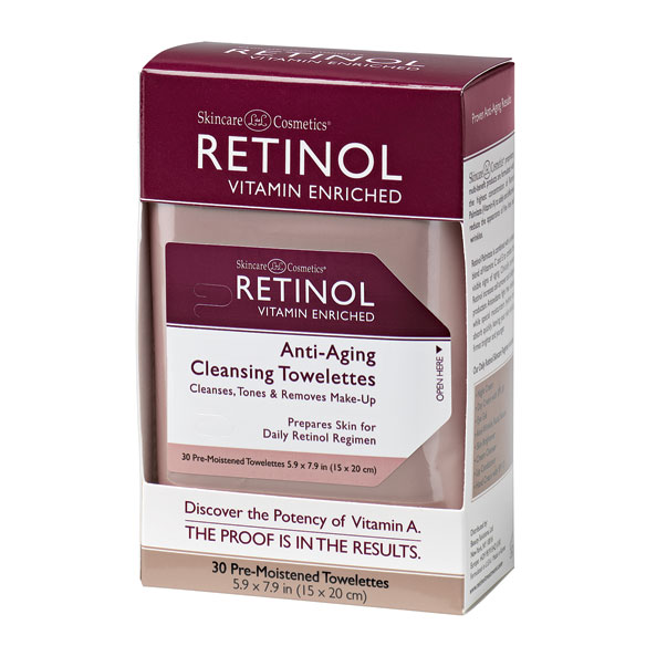 Retinol Anti-Aging Cleansing Towelettes