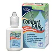 Overview Comfort Earx ear moisturizer drops restore moisture and lipids to dry ears. pH-balanced formula is ideal for relieving dryness associated with hearing aids, even for sensitive ears. Hypoallergenic and free of fragrances, alcohol and steroids. 1/2 oz.