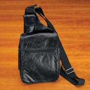 Patch Leather Organizer Bag