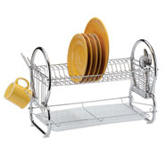 Cooking Alone - Two-Tier Compact Dish Rack