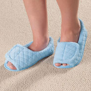 Comfort Footwear - Open Toe Chenille Slippers