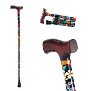 Fashion Folding Cane with Wood Handle